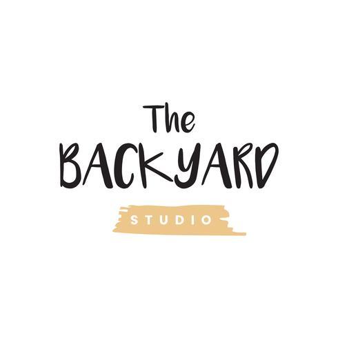 O vetor de logotipo de estúdio de quintal