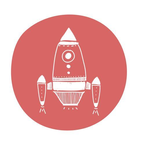 Raumschiff-Symbol Gekritzel