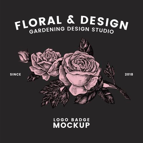 Gardening and floral logo design vector