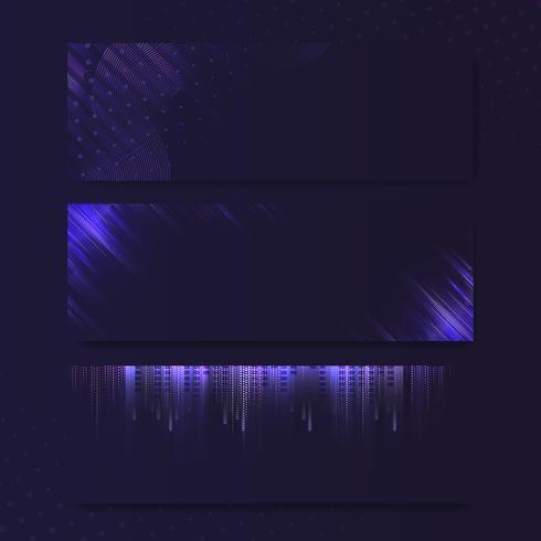 Vecteur de panneau vierge néon rectangle violet violet
