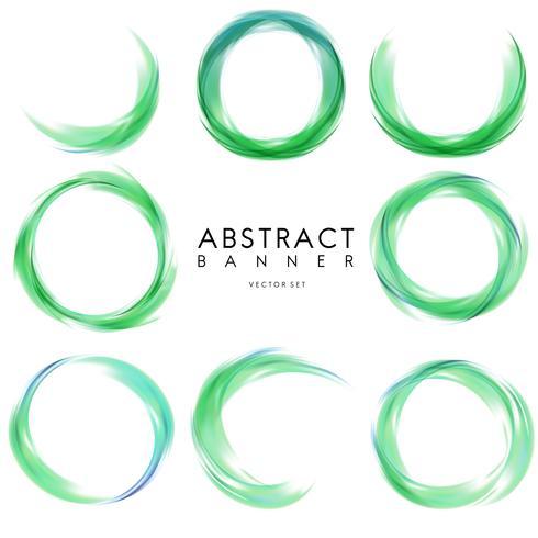 Banner abstracto en verde