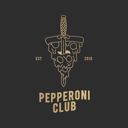 Illustration de club de pepperoni
