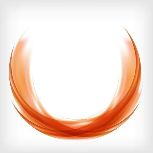 Abstrakte Logoauslegung in Orange