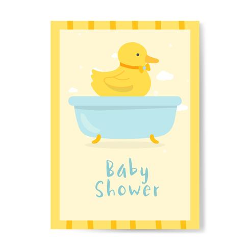 Conception de cartes d'invitation de douche de bébé