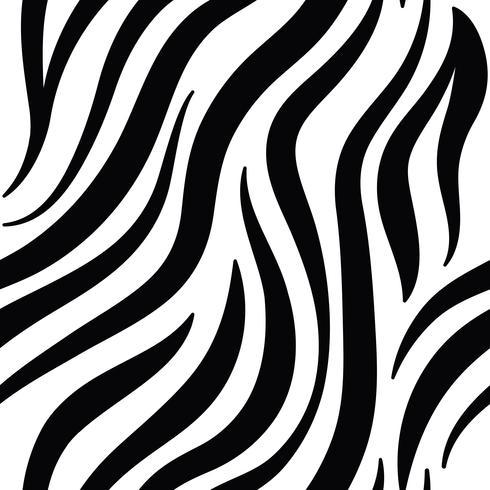Vector de patrón de impresión de cebra blanco y negro