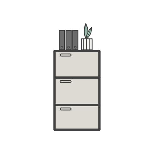 Illustration of office cabinet icon