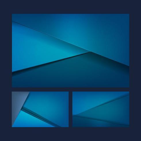 Set di disegni di sfondo in blu