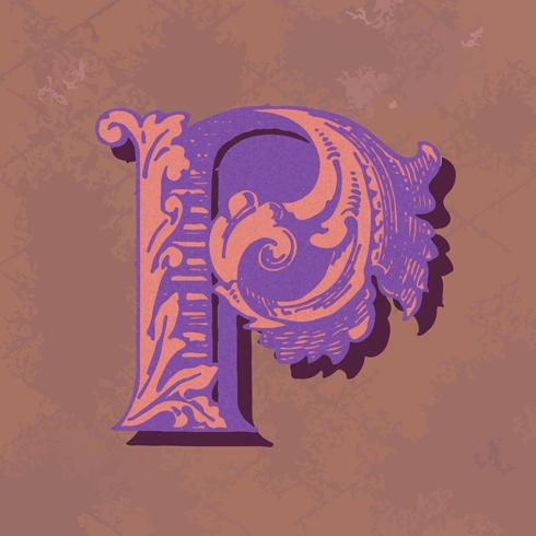 Vintage Typografieart des Großbuchstaben P