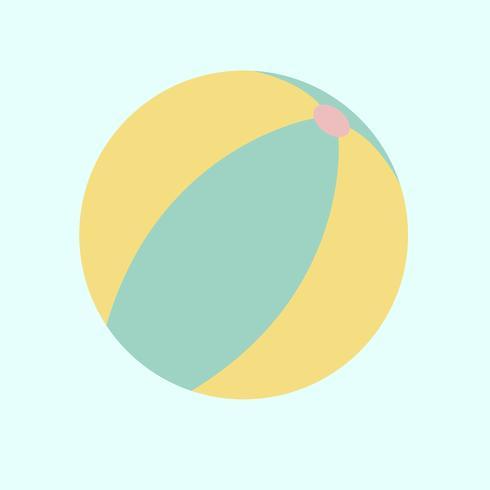 Illustration d'un ballon de plage