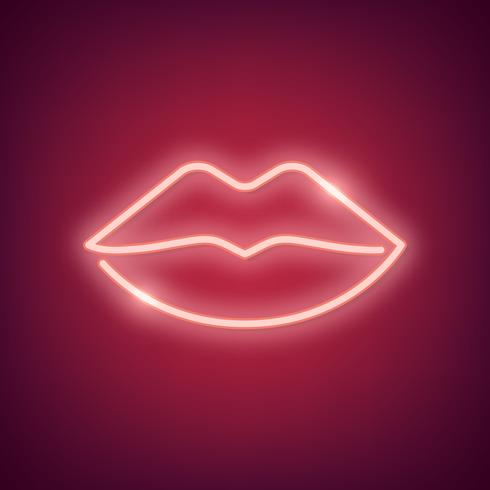 Neon heart illustration