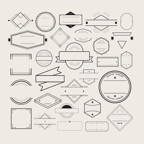 Illustration de la collection de badges