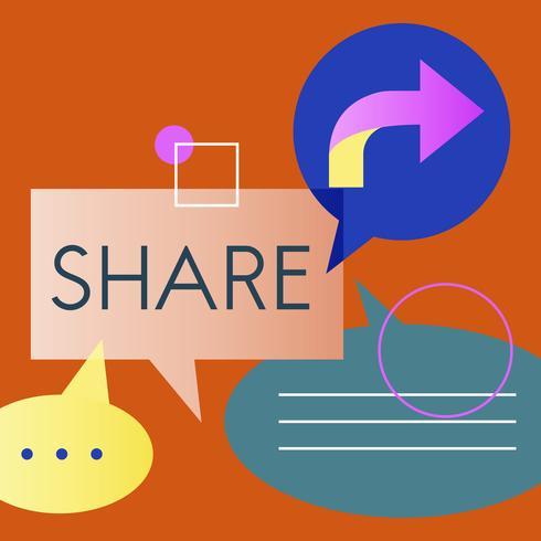 Illustration du partage d'informations
