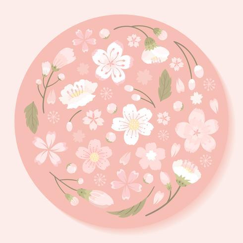 Cherry blossom bakgrunds illustration