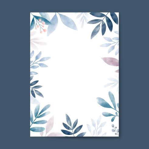 Aquarelle laisse avec design d'espace copie