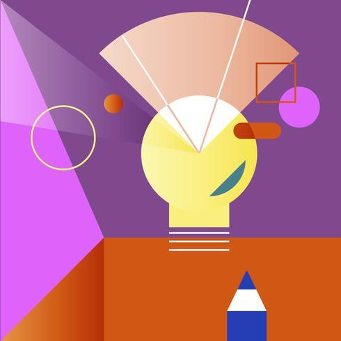 Abbildung der kreativen Glühlampe