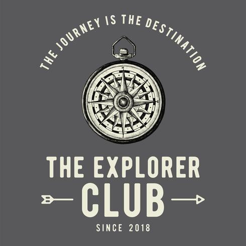 The explorer club logo design vector