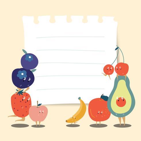 Fruits sains et fond