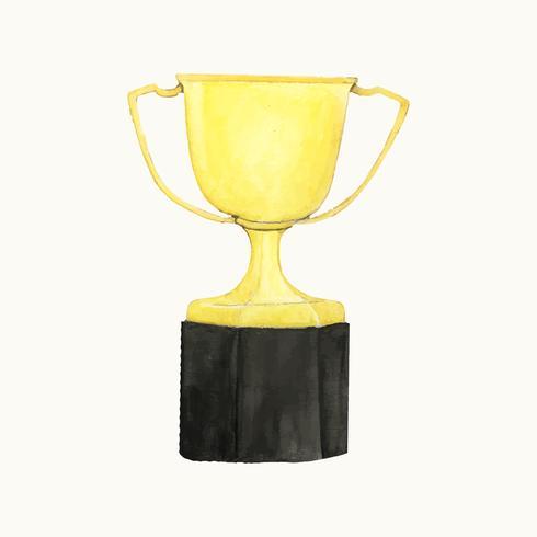Ilustración de un trofeo de oro