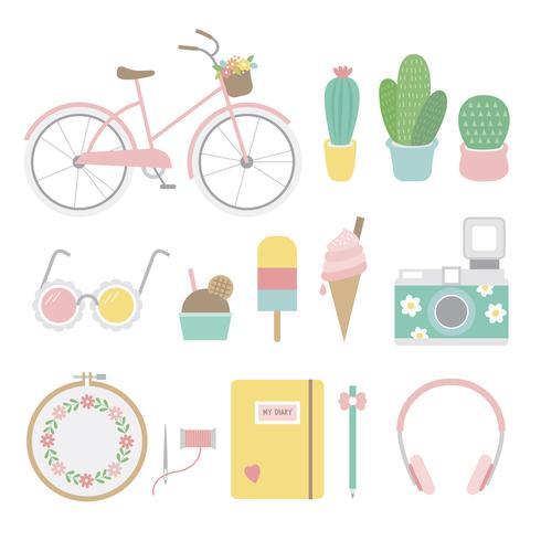 Conjunto de iconos femeninos y divertidos