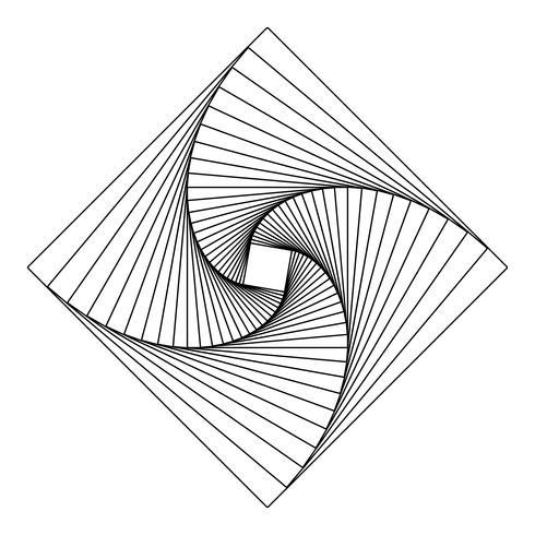 Vector de elemento geométrico cuadrado abstracto
