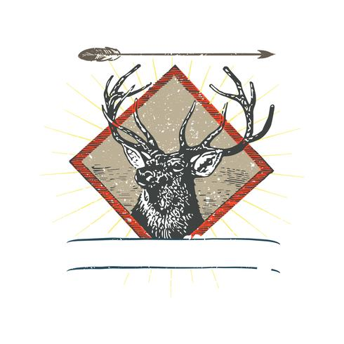 Illustrazione di logo di cervo selvatico