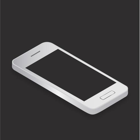 Illustration du téléphone portable isolé