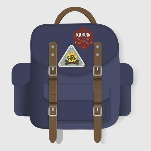 Ilustración de una bolsa de viaje