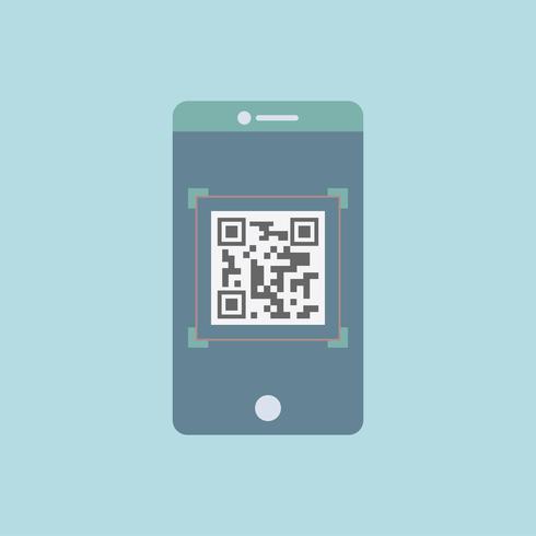 QR-Code-Grafik auf dem Mobiltelefon