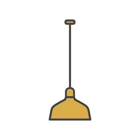 Illustration of lamp icon