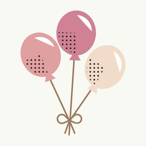 Conceito de celebração de ícone de balão