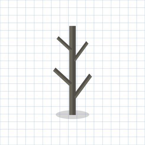 Abbildung eines kahlen Baumasts