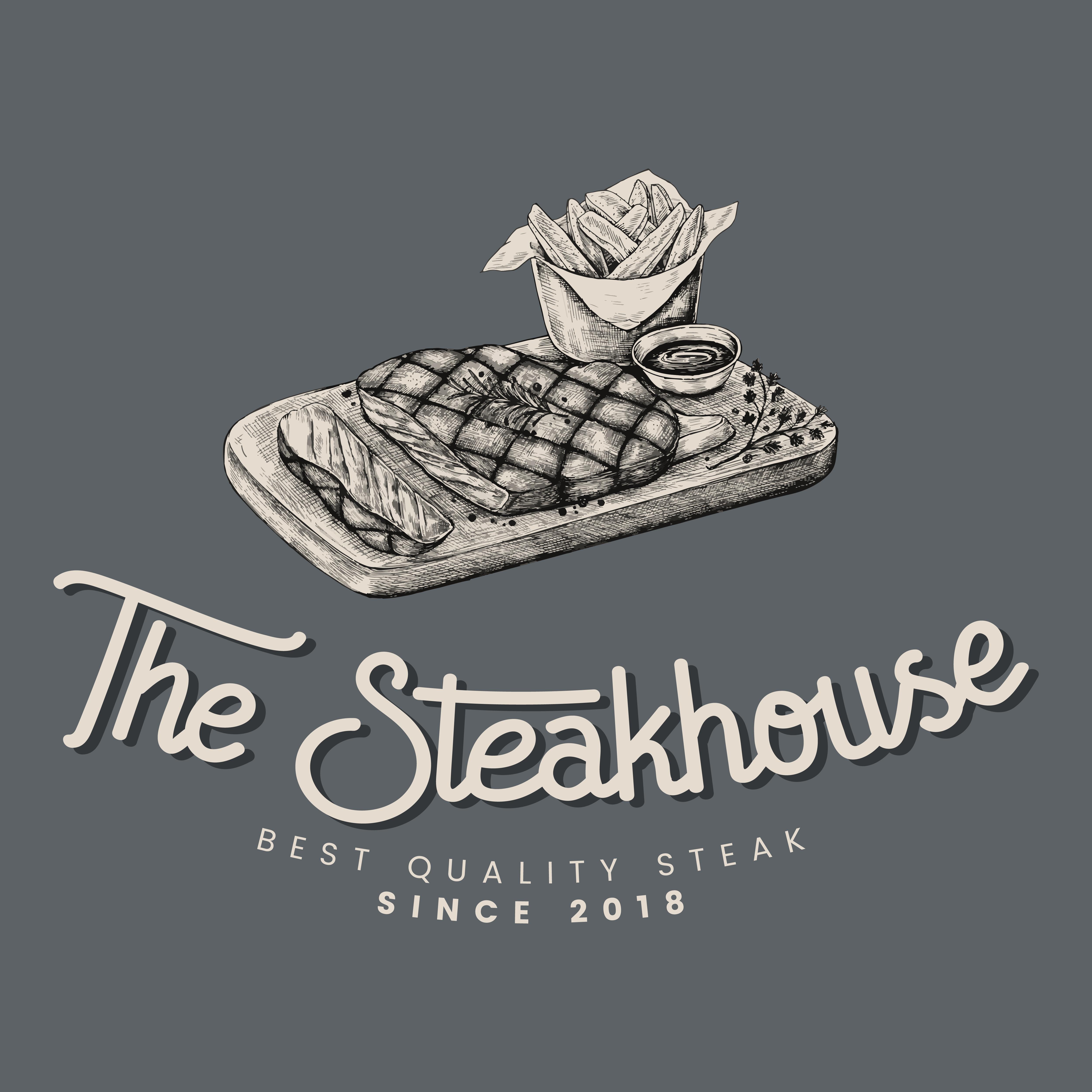 The Steakhouse Logo Design Vector
