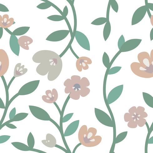 Hand drawn roses and plants illustration