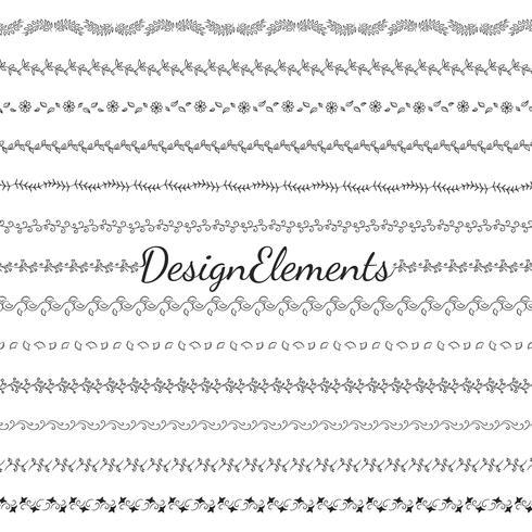Raccolta di vettori di elementi di design divisori