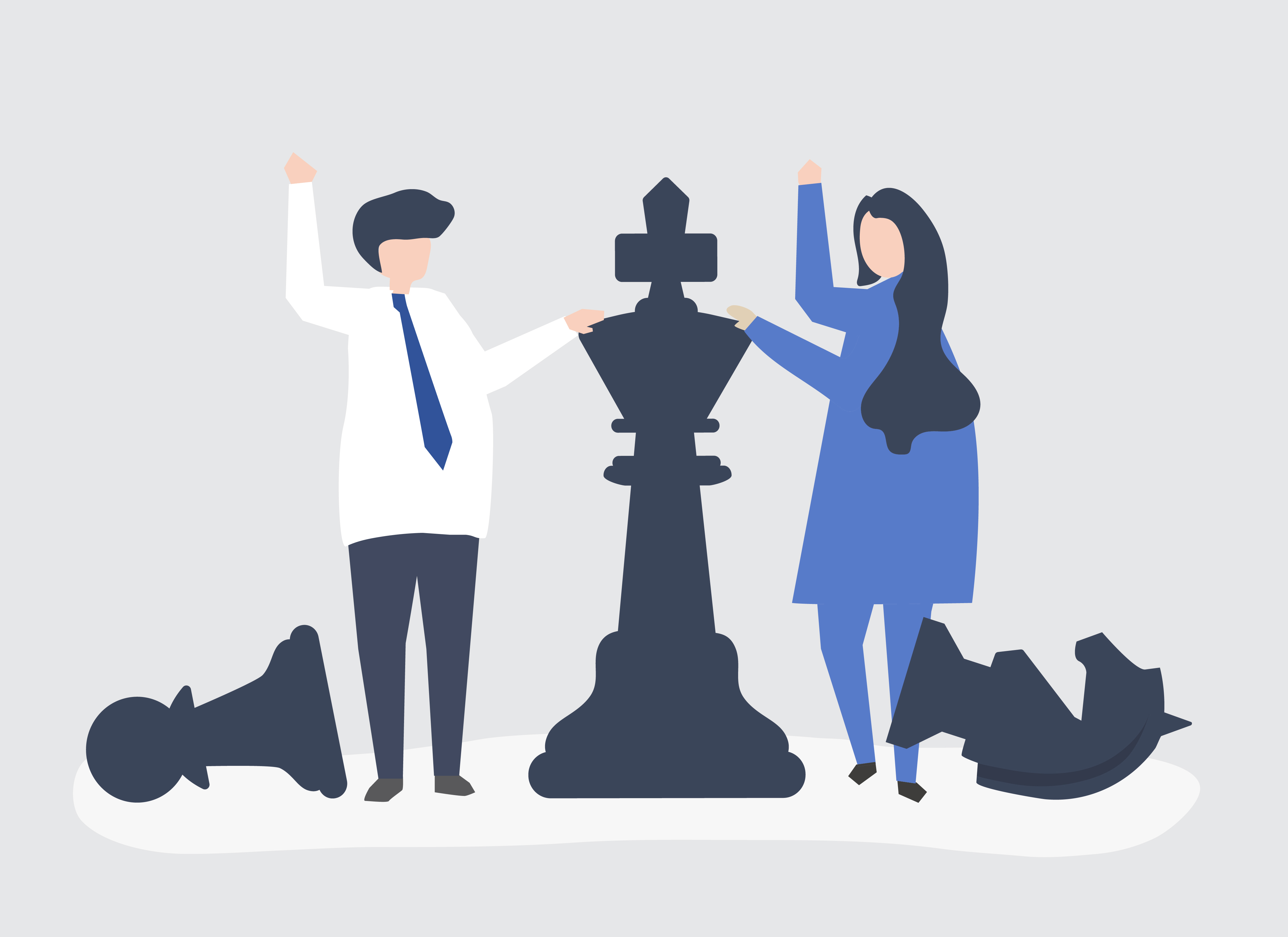 Business people with giant chess pieces - Download Free ...