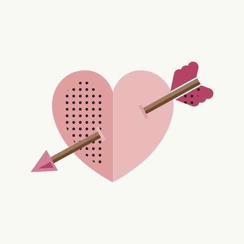 Valentinsgrußtagesherz-Liebes-Ikonen-Symbol-Konzept