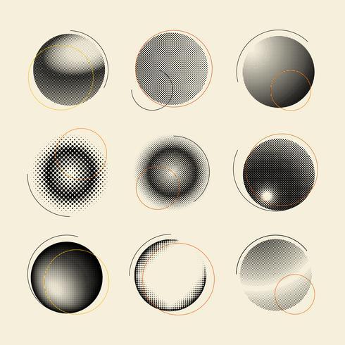 Distintivo de meio-tom preto e branco