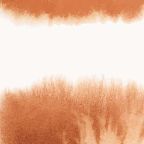 Vettore di bandiera stile acquerello arancione