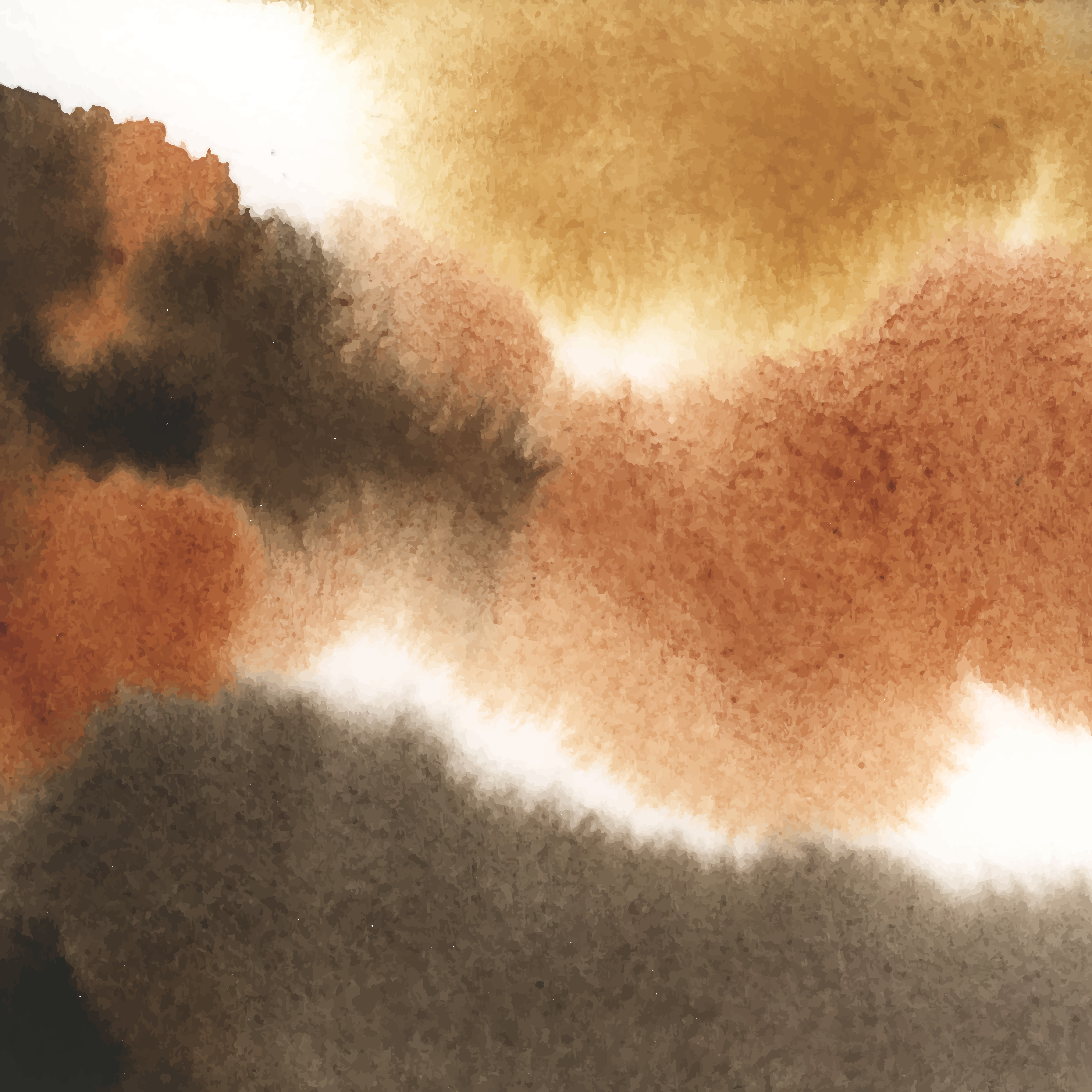 Abstract Brown Watercolor Stain Texture