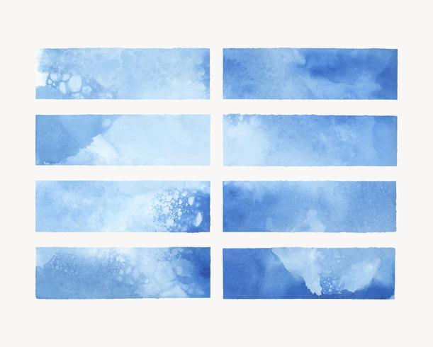 Vector de fondo acuarela pintada en azul