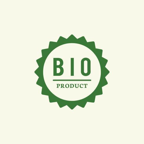 Bioprodukt-Ausweis-Stempelillustration