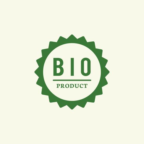 Bio product badge stamp illustration