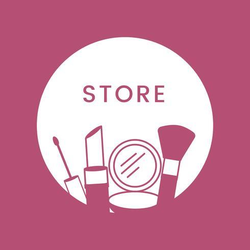 Vector de cosméticos de logotipo de tienda de belleza blanca
