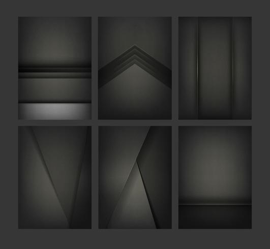 Set abstrakte Hintergrundauslegungen im Schwarzen