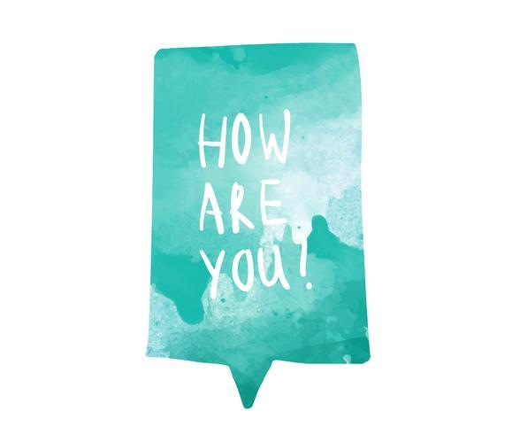 Hoe ben je geschreven in een waterverf-tekstballon