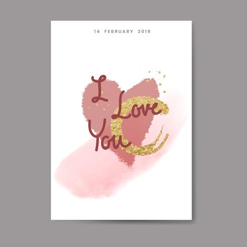 Sweet valentine card and typography design
