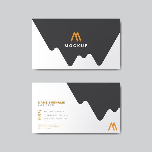Moderne geometrische Visitenkarte