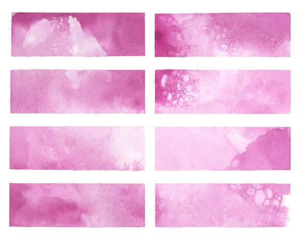 Painted abstract watercolor vector in pink