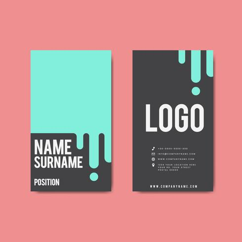 Kreativ modern retro visitkortdesign