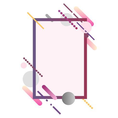Modern rectangle banner in colorful frame illustration
